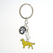 Golden Retriever keychain key rings for women men girls silver color metal alloy