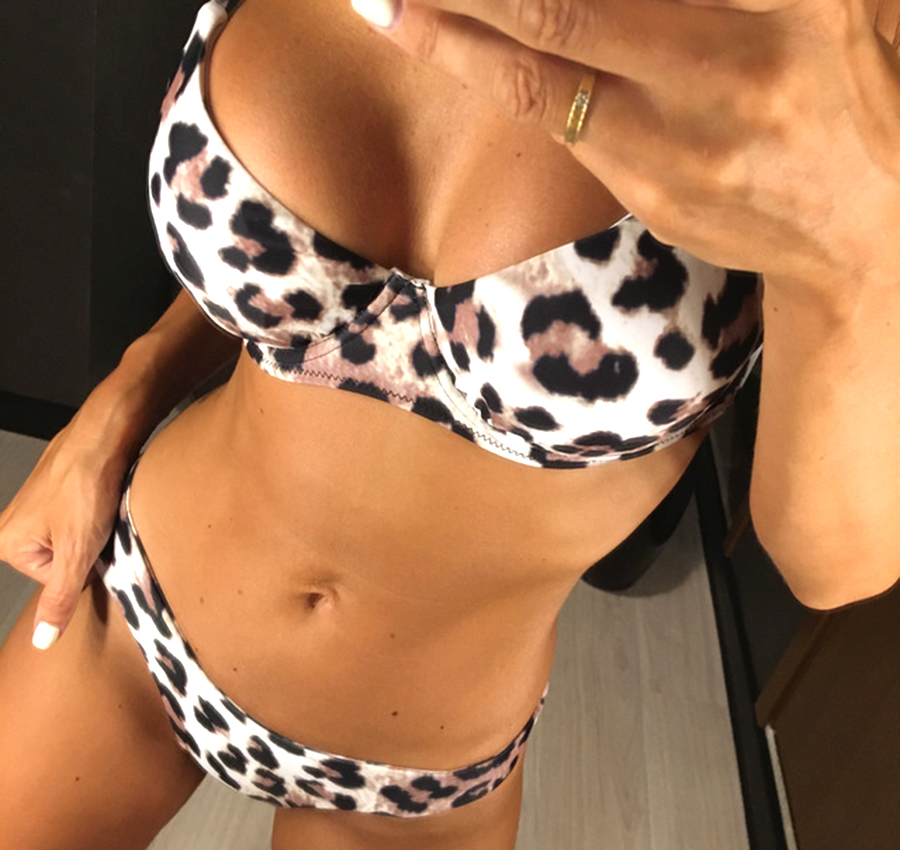 Bikini 2018 Bikini Set Sexy Brazilian Bikini Leopard Swimwear Women Swimsuit Thong Biquini Push Up Swimsuit Beach Bathing Suit настенный светильник lussole numana lsq 2502 06