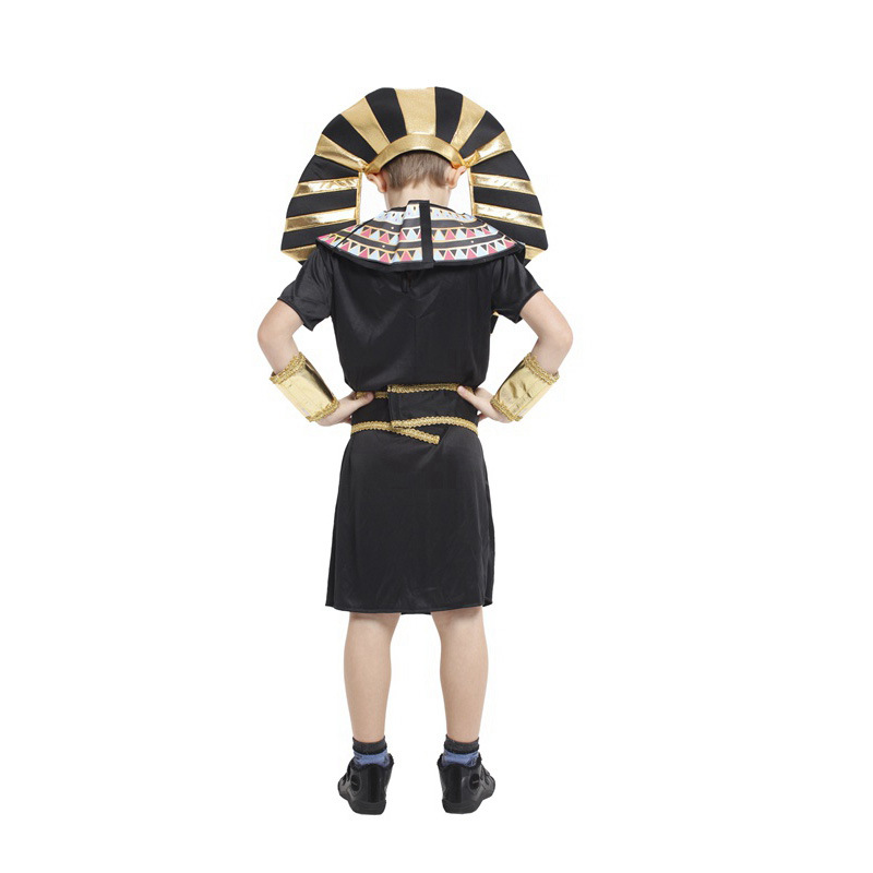 buy m xl children halloween egyptian traditional costumes fantasia boys kids the pharaoh of egypt cosplay carnival masquerade dress from