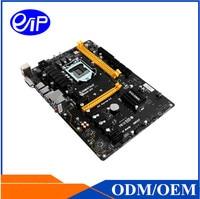 Mining Motherboard Intel LGA1151 6 Graphics Skylake And Kaby Lake GPU ASIC Card B250 DDR4 ATX
