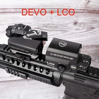L Brand Dual Enhanced View Optic Red Dot sight Rifle Scope Magnifier with LCO Red Dot Sight Reflex Sight