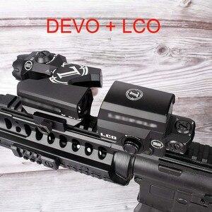 L marca doble-mejorada vista óptica punto rojo mira Rifle ampliador de alcance con LCO punto rojo vista Reflex