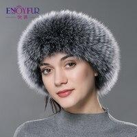 ENJOYFUR Autumn Winter Women Fur Headband Real Fox Fur Scarf Warm Ear Protecter Headband 2016 New