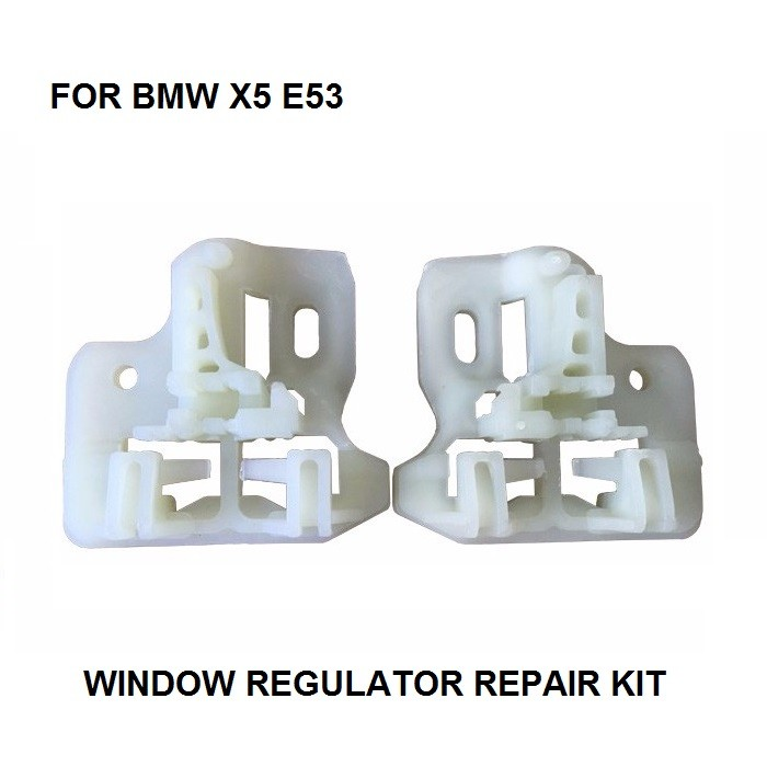 2000-2015 CR WINDOW METAL CLIPS FOR BMW X5 E53 WINDOW REGULATOR REPAIR CLIPS With PLASTIC SLIDER FRONT RIGHT OR LEFT SIDE