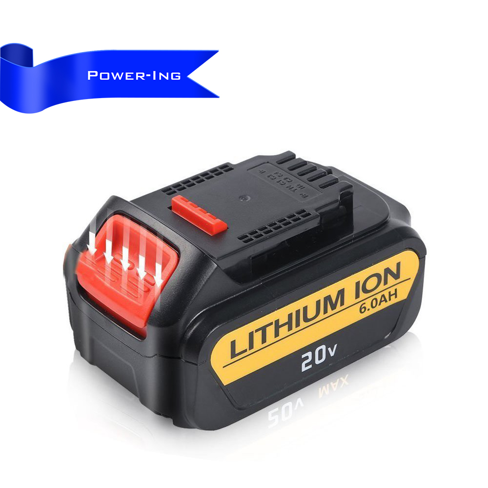 High Quality 6.0Ah 20v Power tool Replacement Battery for Dewalt 20v Max XR DCB206 DCB204 DCB205 DCB205-2 DCB200 DCB180 DCD740 li ion 18v 20v 3 0ah replacement power tool battery for dewalt dcb182 dcb200 dcb204 dcb183