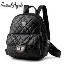 Jiessie & Angela мода плед Рюкзаки подростков Обувь для девочек рюкзак высокое качество кожаный рюкзак Для женщин сумка Mochilas Mujer