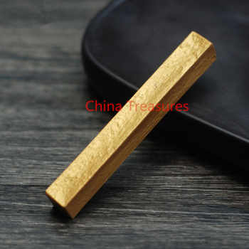 Very Small,10g Chinese Golden Ink Stick For Calligraphy Writing Sutra Writing Brush Ink Stick Hui Mo Ink - DISCOUNT ITEM  30% OFF All Category