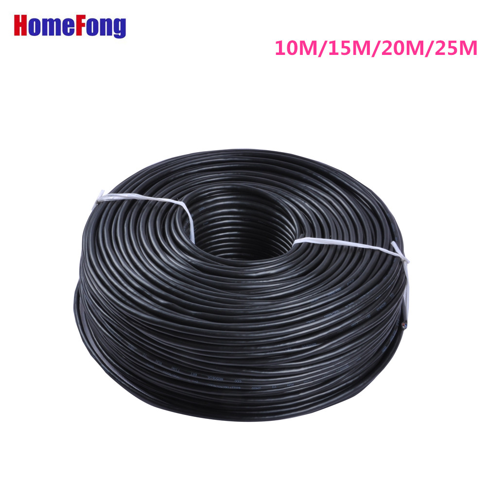Homefong RVV4 Extension Cable  10M 15M 20M 25M 4 Core 24AWG For Video Door Phone Intercom System