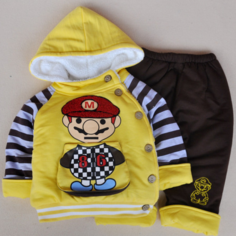 ФОТО Anlencool Roupas Meninos Free Shipping Winter Children's Clothing Boys Mary Paragraph Explosion Models Baby Cotton Suit
