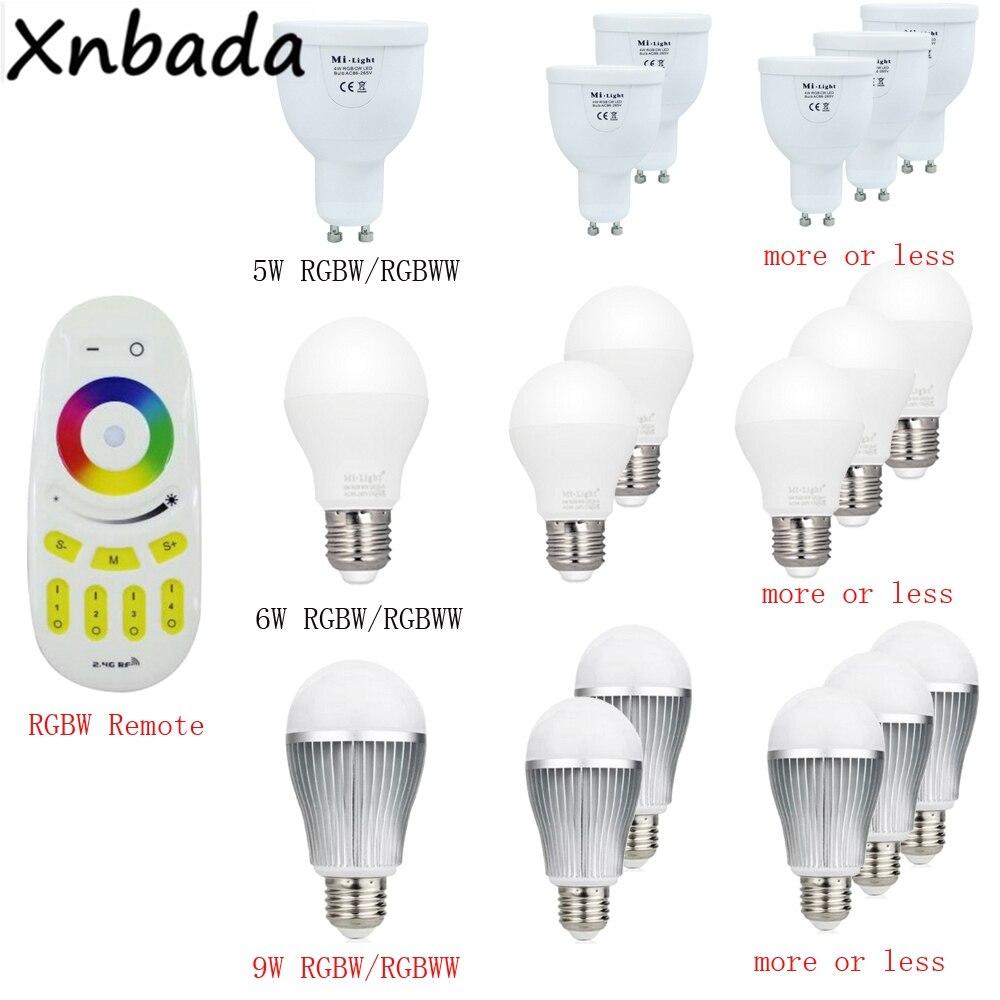 Image 3 - Milight 2.4G Led Bulb,MR16 GU10 E14 E27 Led Lamp Smart Wireless 4W 5W 6W 9W 12W CCT/RGBW/RGBWW/RGB+CCT Led Light-in LED Bulbs & Tubes from Lights & Lighting
