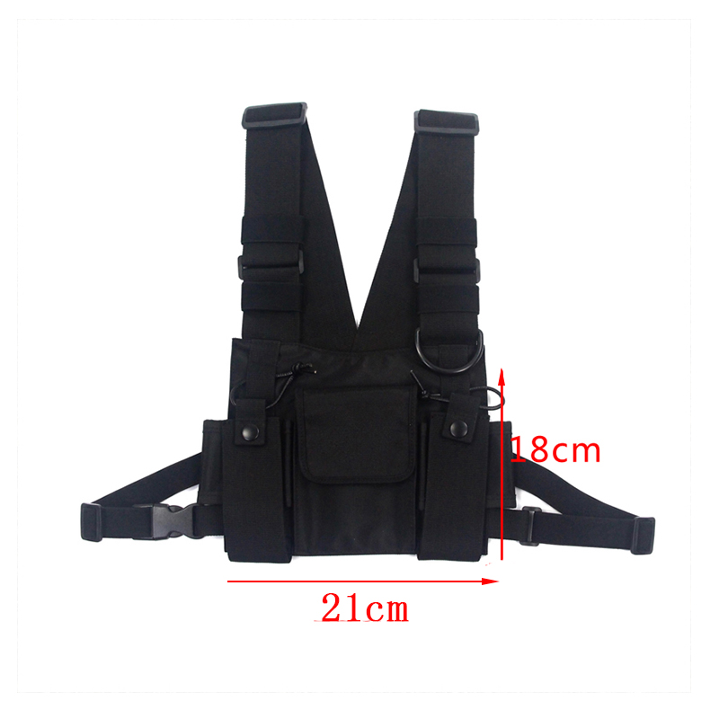Image 5 - adjustable Black Vest Hip Hop Streetwear Functional Tactical Harness Chest Rig Kanye West Waist Pack Chest Bag Fashion Nylon c5-in Waist Packs from Luggage & Bags