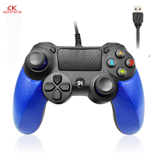 For PS4 Game Wired Controller USB Gamepad Multiple Joystick Vibration Handle 1M Cable for iPhone iPad PC PS4/PS3