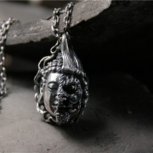 925 Sterling Silver Buddha Magic Between One Idea Pendant For Male Year of Birth Necklace Jewelry 33G