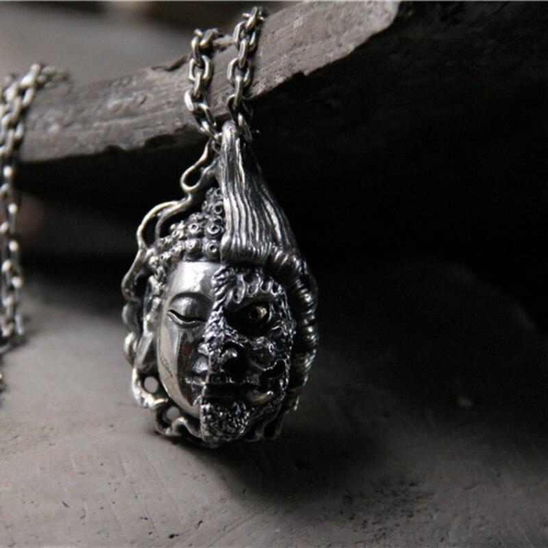 925 argent Sterling bouddha magique entre une idée pendentif pour homme année de naissance collier bijoux en argent 33G