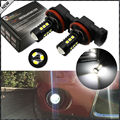 2pcs 6000K Xenon White 15-SMD-3030 Powered by LED H8 H11 H9 LED Bulbs For Fog Lights or Daytime Running Lights