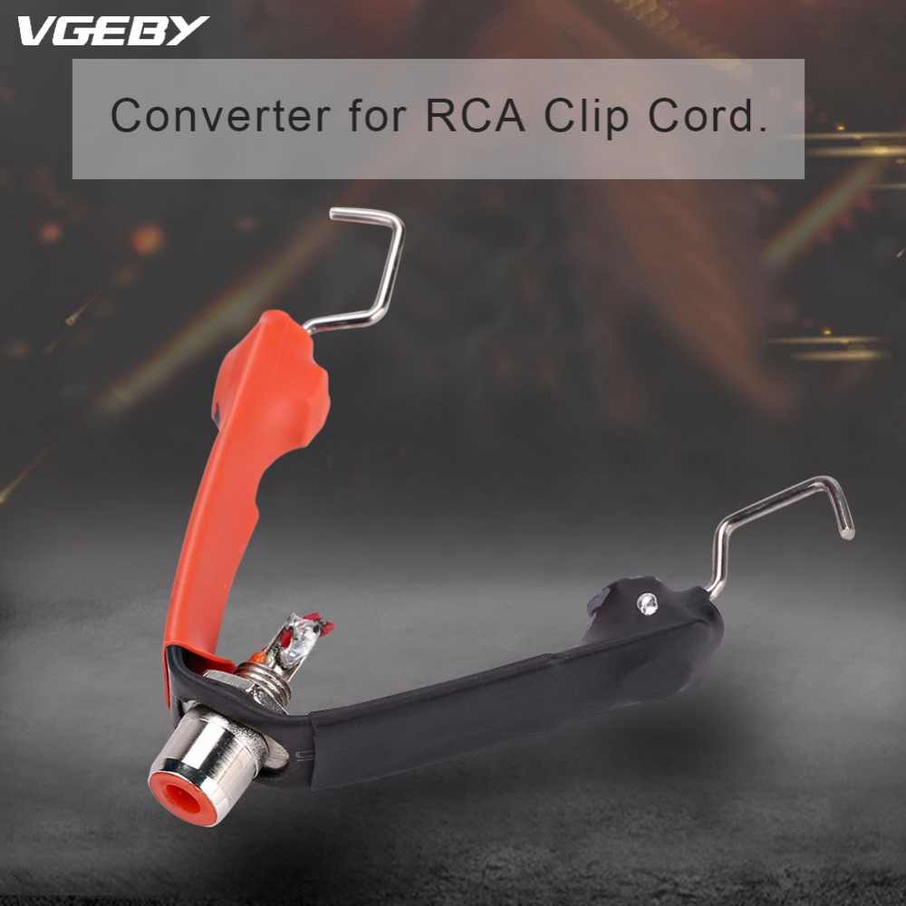 Free Shipping Removable Converter For RCA Clip Cord Removable RCA to Clip Cord Input Power Supply Tattoo Machine Gun Accessories