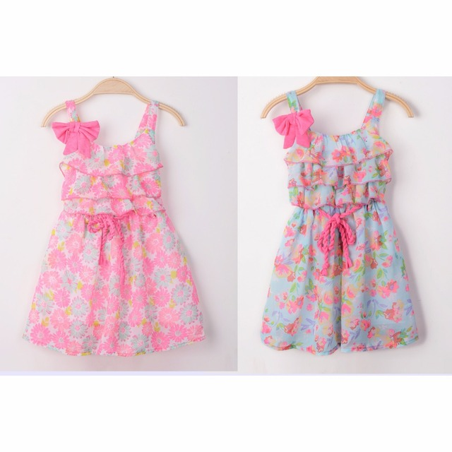 e8d87cdd144 2016 Baby Girls Dresses Princess Chiffon Summer Baby Girl Clothes Wholesale  Toddler Baby Girl Birthday dress Children Clothing