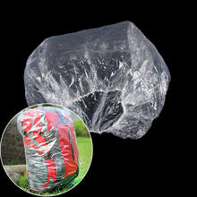 2019 Hot Disposable Dust Rain Waterproof Backpack Cover Portable Travel Hiking Backpack Camp Rucksack Bag(China)