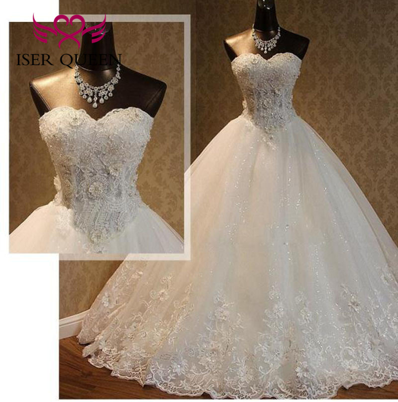 Pearls Beading Pearls Sweetheart Off Shoulder African Wedding Dresses Pure White Ball Gown Wedding Dress 2019 Plus Size WX0093