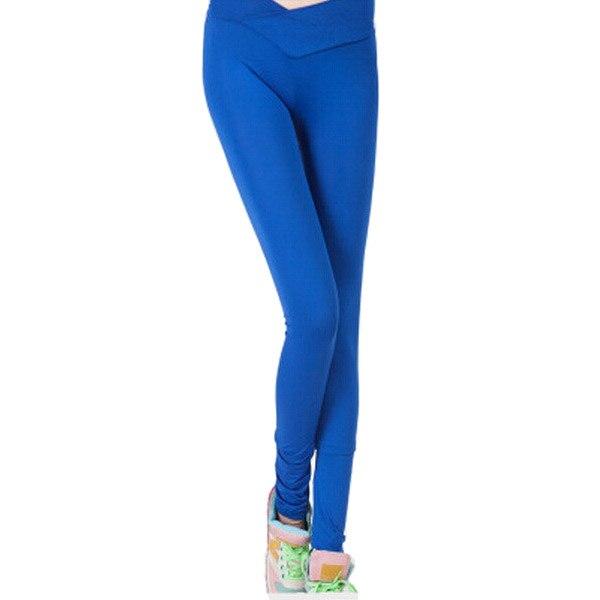 aa7c055b10c Européenne grande taille vêtements bonbons couleur sexy taille haute leggings  fitness spandex leggings comme pantalon pas cher serré leggins jogger dans  ...