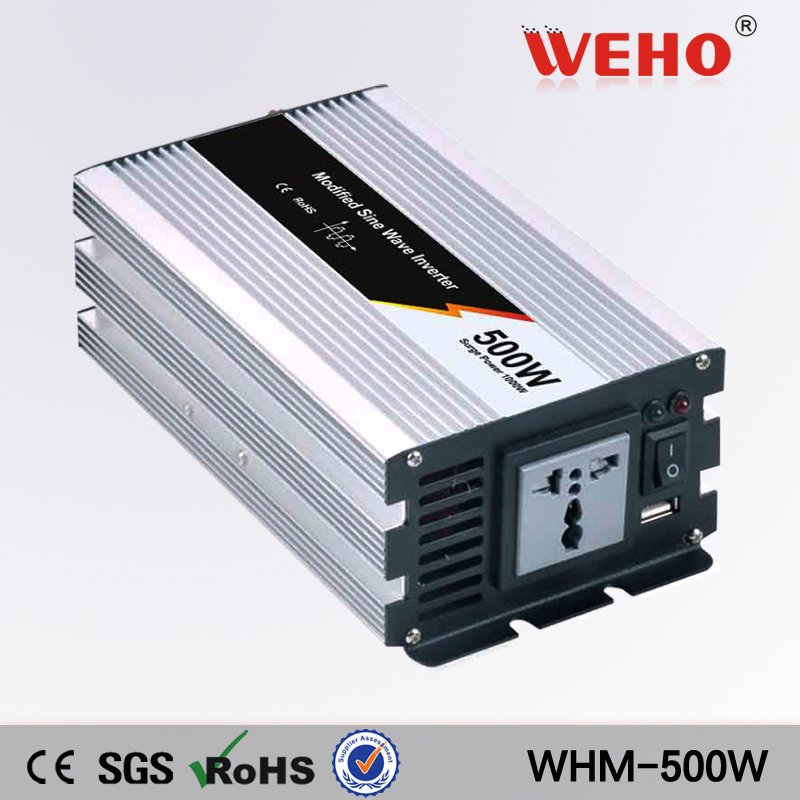 (WHM500-121)China hot-selling Modified sine wave 110VAC output 12v power inverter 500w