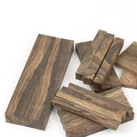 Persimmon wood Ziricote, Ciricote (Cordia Dodecandra) Mexican Ebony Knife handle material 1 piece