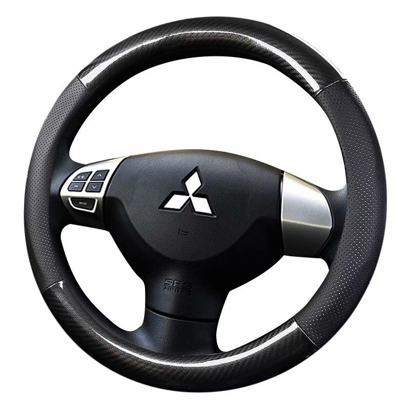 Car steering wheels cover 38cm 15 For Mitsubishi ASX RVR Pajero Sport Outlander PHEV Airtrek Grandis lancer evo Eclipse Cross