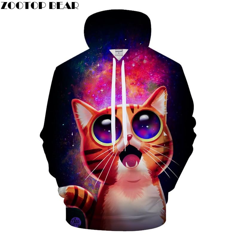 Cartoon Cat 3D Hoodies Men Hoody Groot Tracksuit BrandSweatshirt Streatwear Anime Coat Pullover High Quality DropShip ZOOTOPBEAR