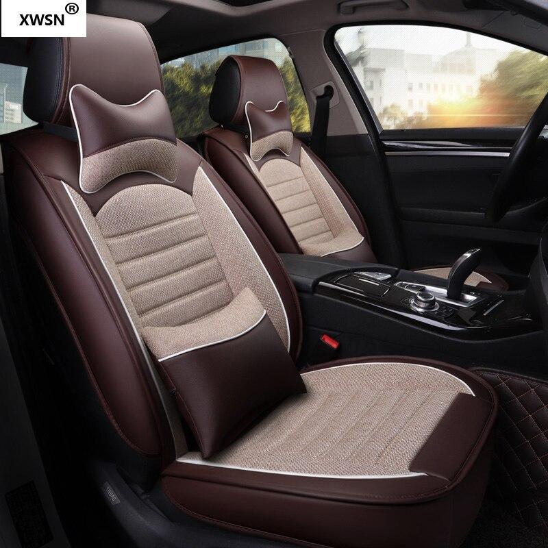 Housse de siège de voiture en cuir pu pour hyundai getz solaris Elantra Tucson veloster creta i20 i30 ix35 i40 accessoires de voiture - 6
