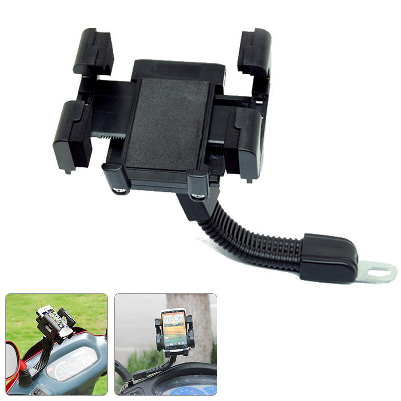 New Adjustable 360 Degrees <font><b>Scooter</b></font> Electric Car Rearview Mirror Mount Mobile <font><b>Phone</b></font> Support <font><b>Holder</b></font> CSL2018
