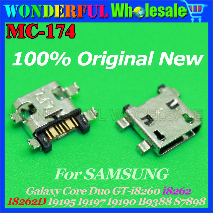 Charging Port For Samsung Galaxy Core Duo GT-i8260/i8262 I8262D I9195 I9197 I9190 B9388 S7898 Micro USB Jack for samsung galaxy core i8260 i8262 i8262d lcd display screen