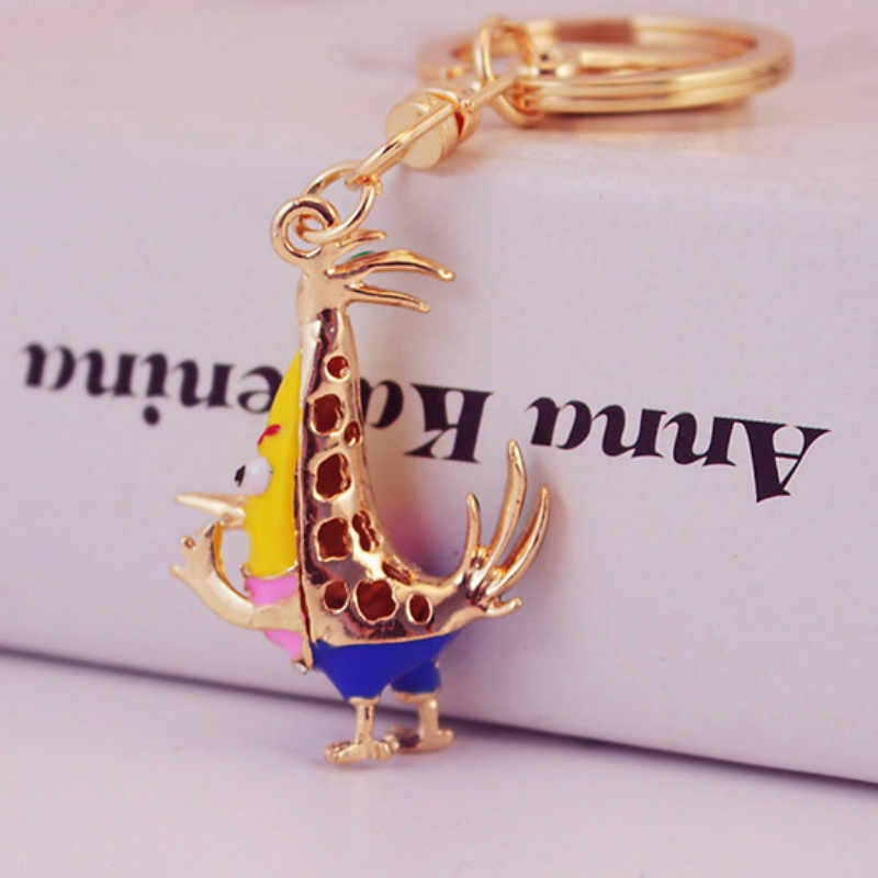 สวยเก๋โอปอล Chick ไก่พวงกุญแจคริสตัลกระเป๋าจี้ Key Ring Key Chains ของขวัญเครื่องประดับ Llaveros แฟชั่นพวงกุญแจน่ารัก