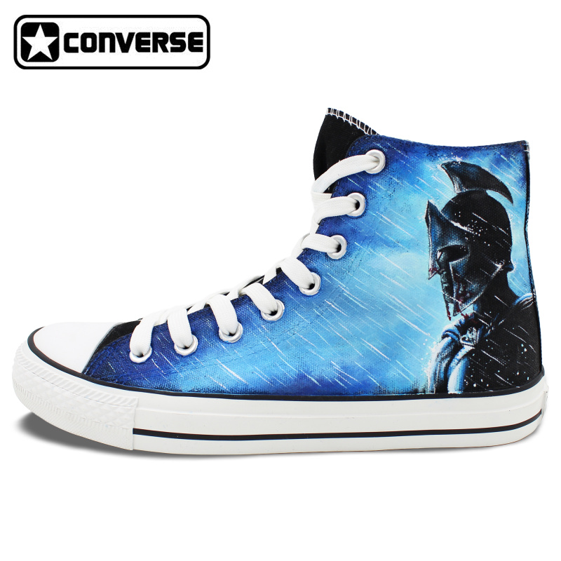 Men Women Converse All Star Warrior Knight Custom Design Hand Painted Shoes High Top Canvas Sneakers Birthday Gifts zdm 5m 300 leds strip light with remote control