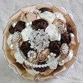 Роскошные Свадебные Букеты Цветы из Шелка Vintage Искусственные Розы Невесты Перлы Цветка Свадебные Букеты В Наличии Витрины