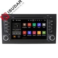Dois Din 7 Polegada 7.1.1 Android DVD Player Do Carro Para Audi/A4/S4 2002-2008 Quad Core 1.6G RAM 2G ROM 16G Wifi GPS de Navegação Rádio FM