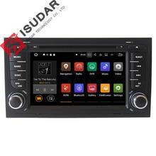 Dos Din 7 Pulgadas Android 7.1.1 Coches Reproductor de DVD Para Audi/A4/S4 2002-2008 Quad Core 1.6G RAM 2G ROM 16G Wifi GPS de Navegación de Radio FM