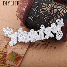 New Design christmas Letter Shaped Die Cutters For scrapbooking DIY Decorations Paper Craft Tool Cutting Template