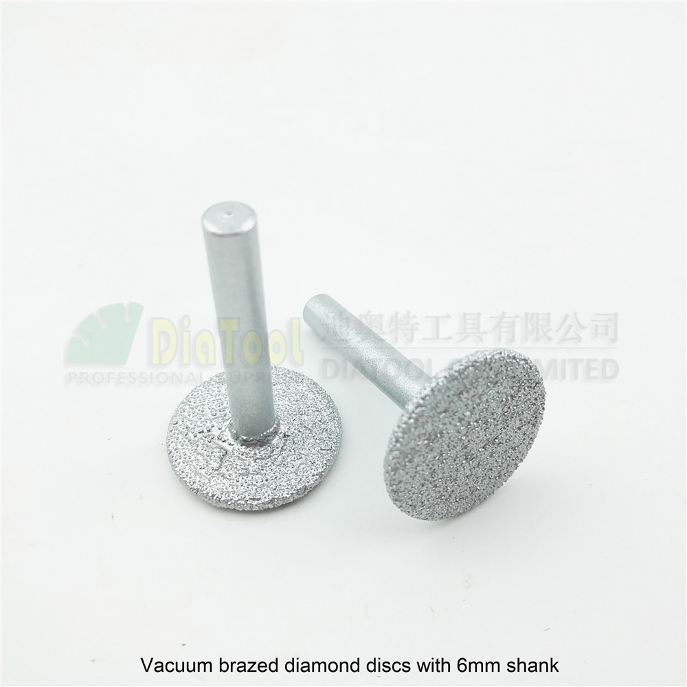 DIATOOL 2pcs Vacuum Brazed Diamond Discs Diamond Saw Blade For Cutting Grinding Engraving Granite Marble Concrete