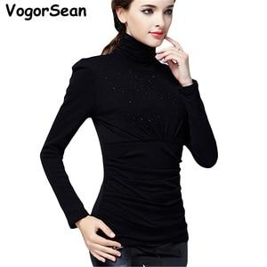 Image 5 - נשים עבה קטיפה באיכות גבוהה נשים אלגנטי אופנה חולצה חולצות סתיו חורף בתוספת גודל חם השפל חולצה Blusas חולצות