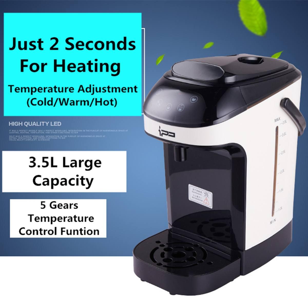 3.5L eau chaude instantanée bouilloire électrique chauffage chaudière fabricant distributeur température réglable café thé fabricant bureau