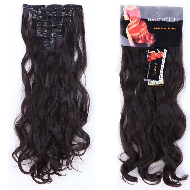 20 inches 7 pieceset full head clip in thick hair extensions 18 20 inches 7 pieceset full head clip in thick hair extensions 18 clips ins dark black synthetic hair extension curly hairpieces in synthetic clip in pmusecretfo Images