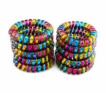 5 Pcs Big Telephone Line Bobble Rubber Bands Tie  Gum Elastic Hair Bands Rope Holders For Women Girl's Hair Scrunchy Accessories