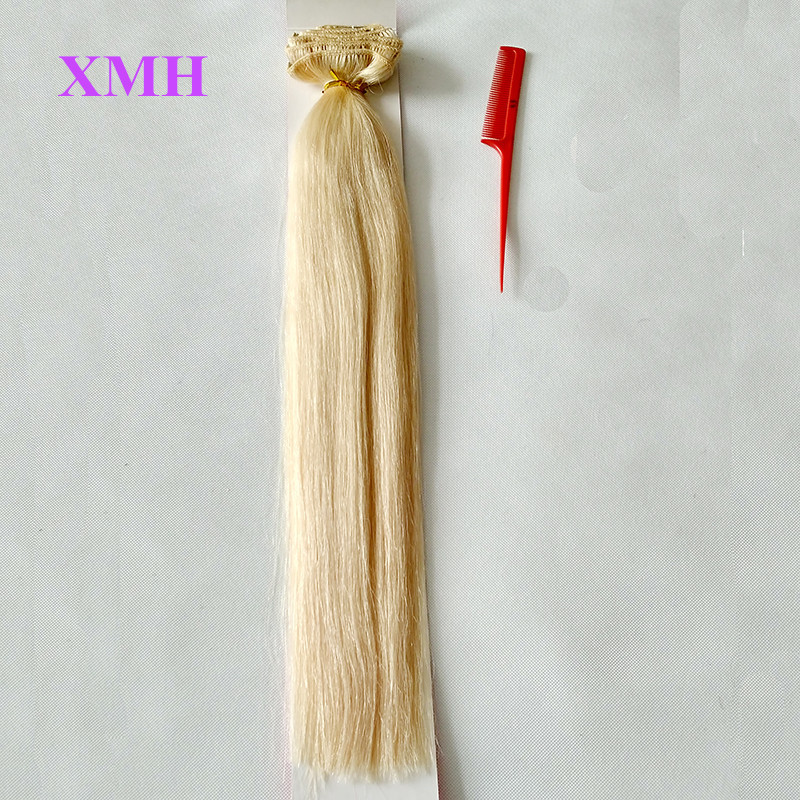 BEST QUALITY CLIP IN HAIR EXTENSIONS 10PCS SET BLONDE HAIR