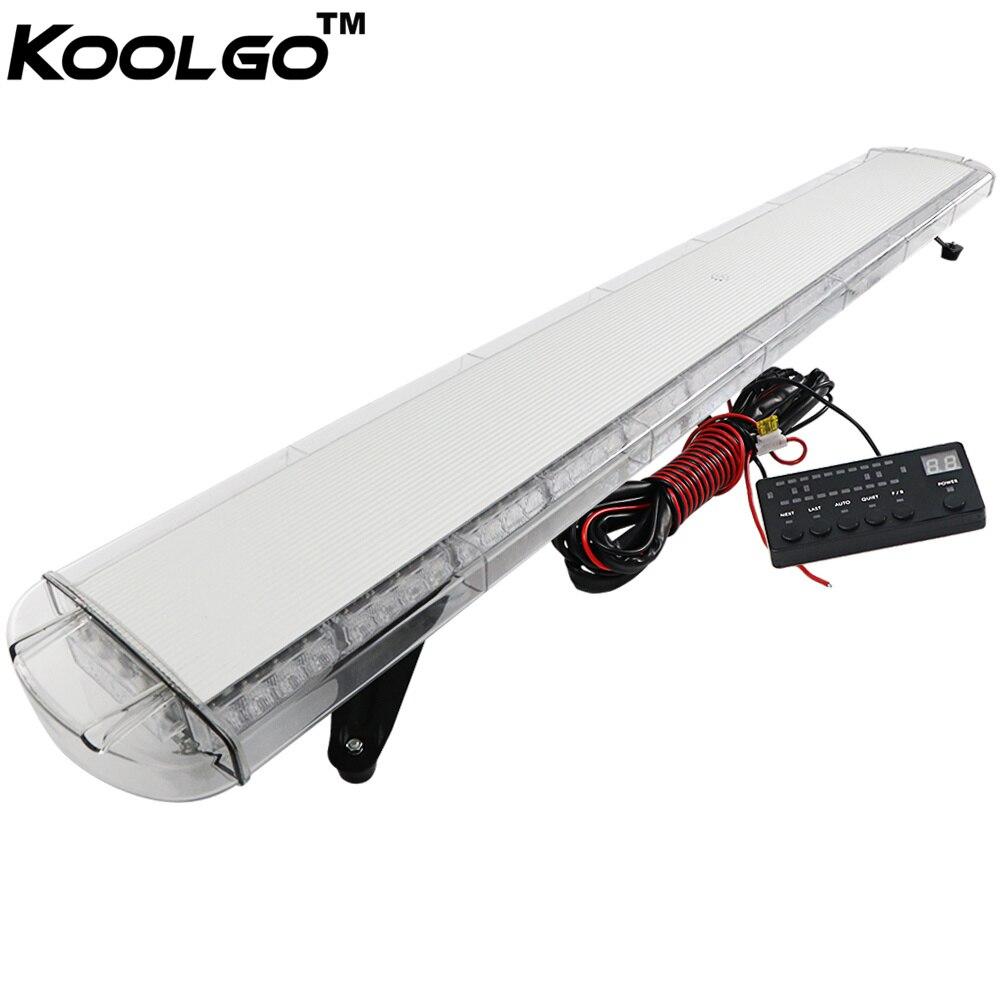 KOOLGO 63 120 LED WORK LIGHT BAR BEACON SAFETY CAR TOW TRUCK EMERGENCY WARNING STROBE LIGHTS