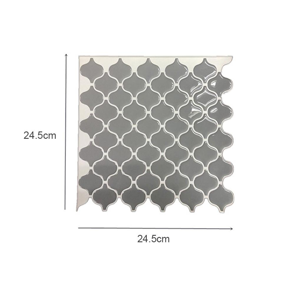 - Grey Arabesque Moroccan Tile Self Adhesive Backsplash 3D DIY