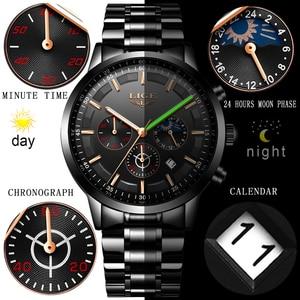 Image 5 - 2020 אופנה חדשה Mens שעונים ליגע למעלה מותג יוקרה עסקים שעונים גברים נירוסטה עמיד למים קוורץ שעון Relogio Masculino