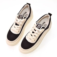 2018 Spring New Korean Version Of The Flat Bottom Harajuku Style Thick Pure Handmade Shoes Shoes