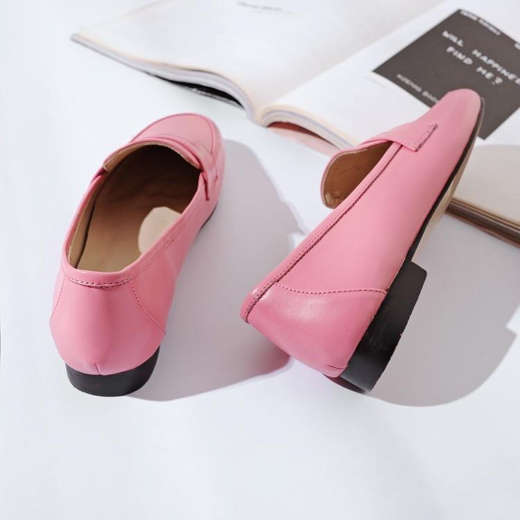 Otoño Color Pisos Zapatos Black Ocasionales Cómodos En Cuero Planos Del Partido Vaca brown pink Boda Suave Mljuese 2019 Deslizamiento Mujeres Rosa Primavera E0vgqq7Fp