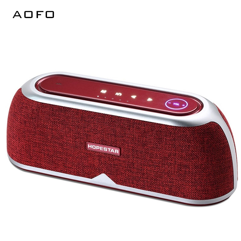 AOFO 12W*2 high quality Potable outdoor bluetooth speaker with touch-pad,power bank wireless