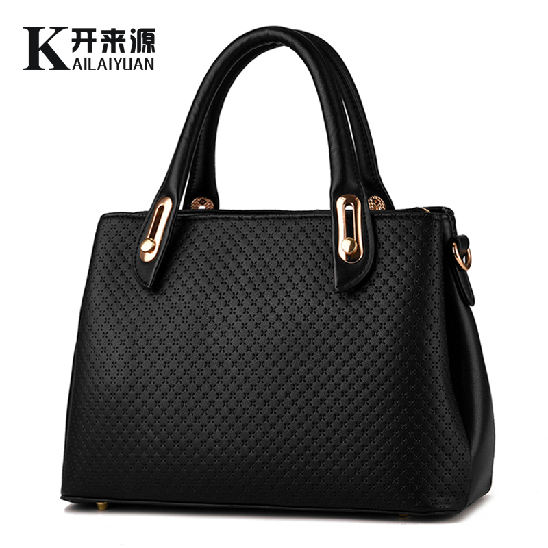 e3272853943a54 KLY 100% Genuine leather Women handbags 2019 New style female stereotypes bag  fashion handbags Shoulder Messenger Handbag-in Top-Handle Bags from Luggage  & ...